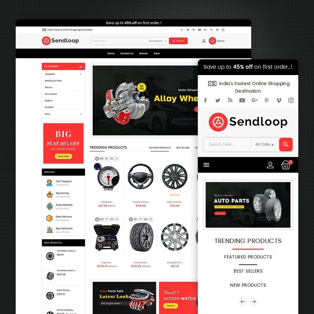 theme - Auto & Moto - Melano Auto Parts Loop - 2