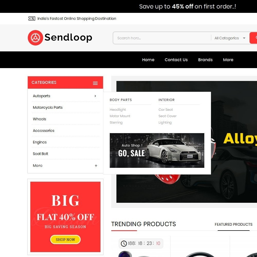 theme - Auto & Moto - Melano Auto Parts Loop - 9