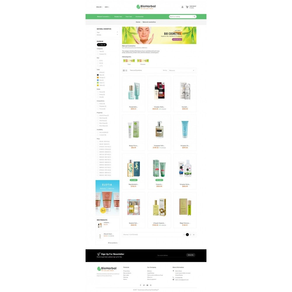 theme - Santé & Beauté - Bio Cosmetics Store - 6