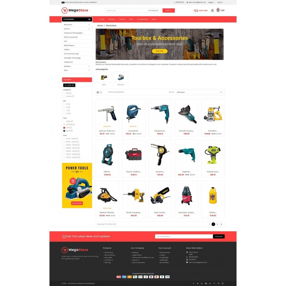 theme - Electronique & High Tech - Mega Power Tools Store - 4