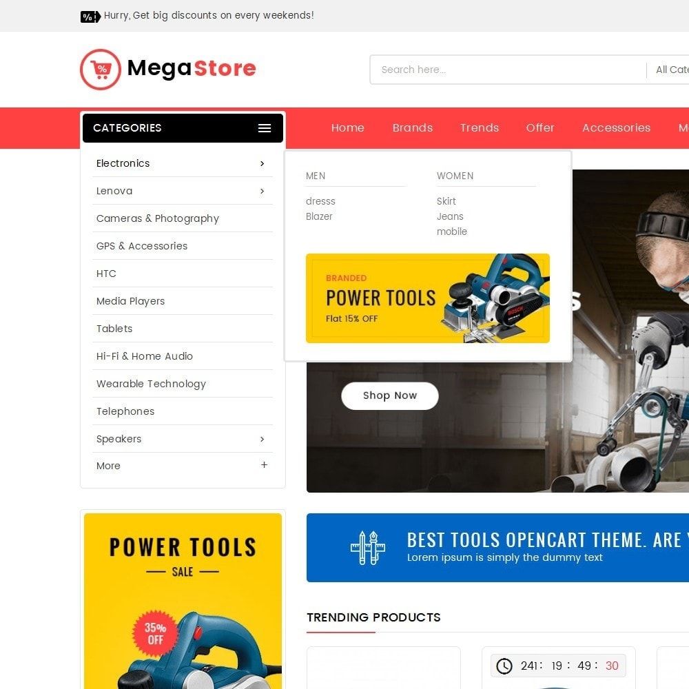 theme - Electronique & High Tech - Mega Power Tools Store - 9