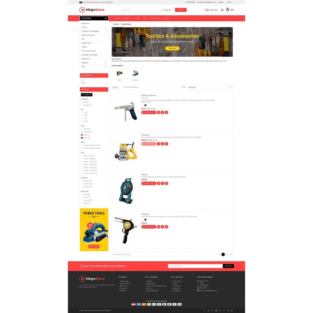 theme - Elettronica & High Tech - Mega Power Tools Store - 5