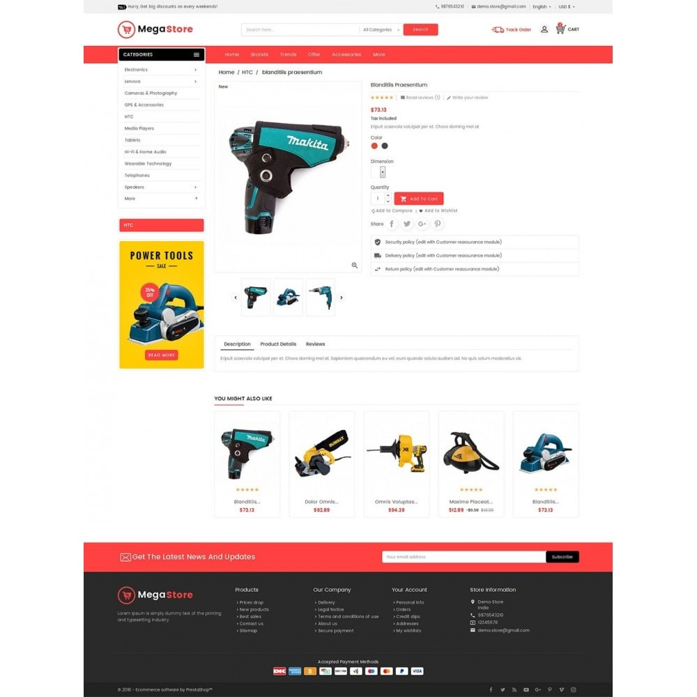 theme - Elettronica & High Tech - Mega Power Tools Store - 6