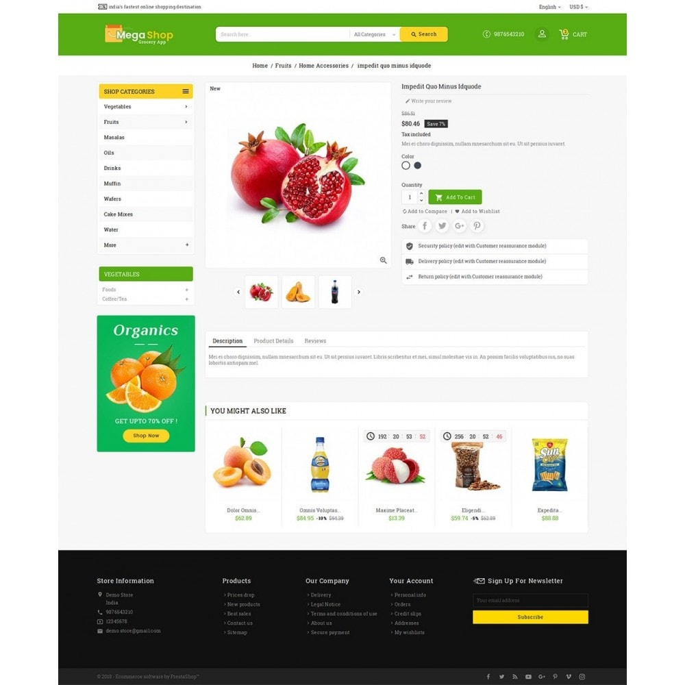 theme - Alimentation & Restauration - Mega Grocery Shop - 6