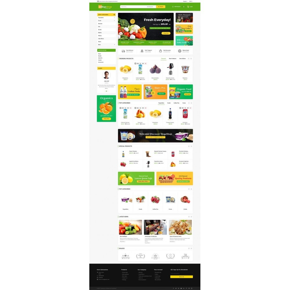 theme - Gastronomía y Restauración - Mega Grocery Shop - 3