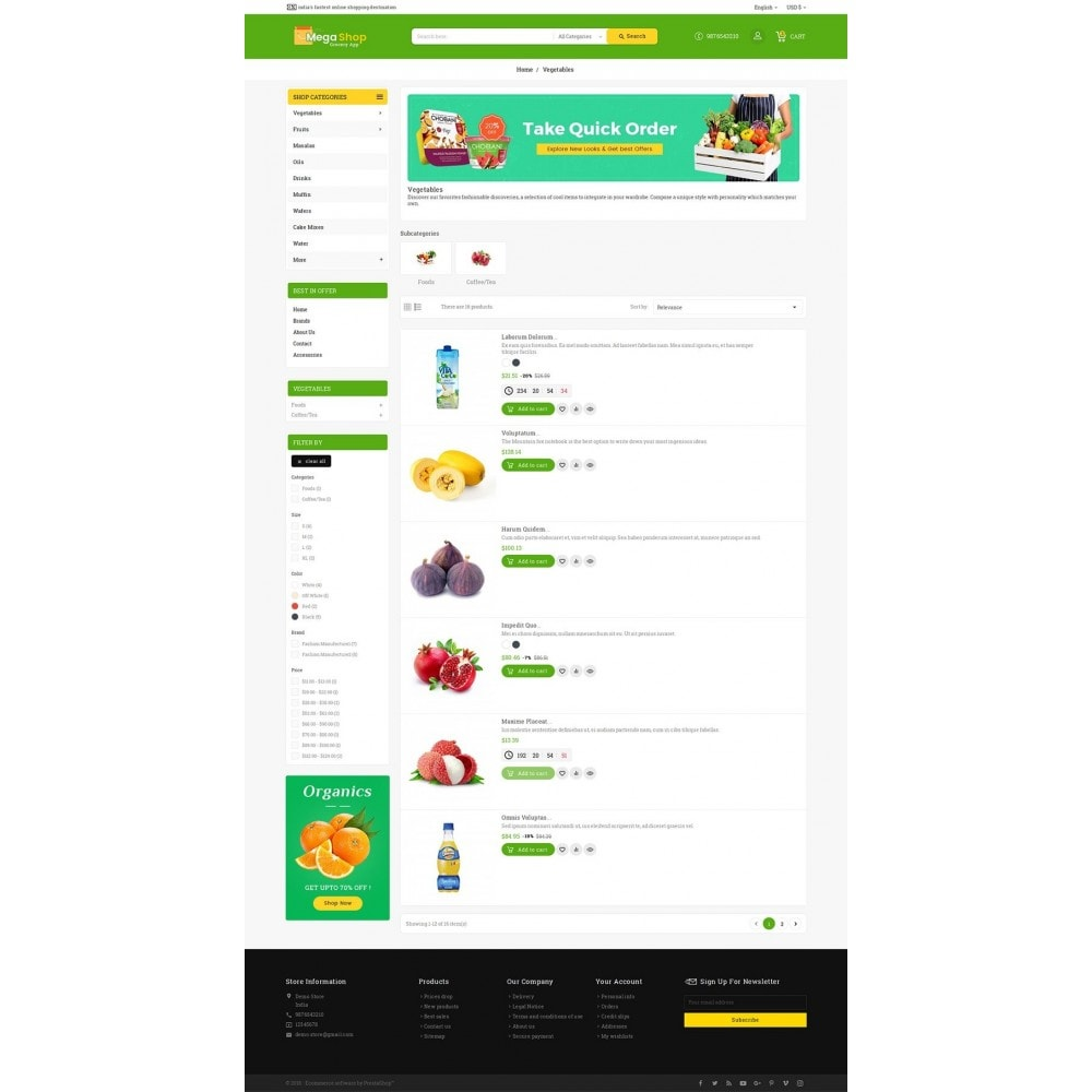 theme - Gastronomía y Restauración - Mega Grocery Shop - 5