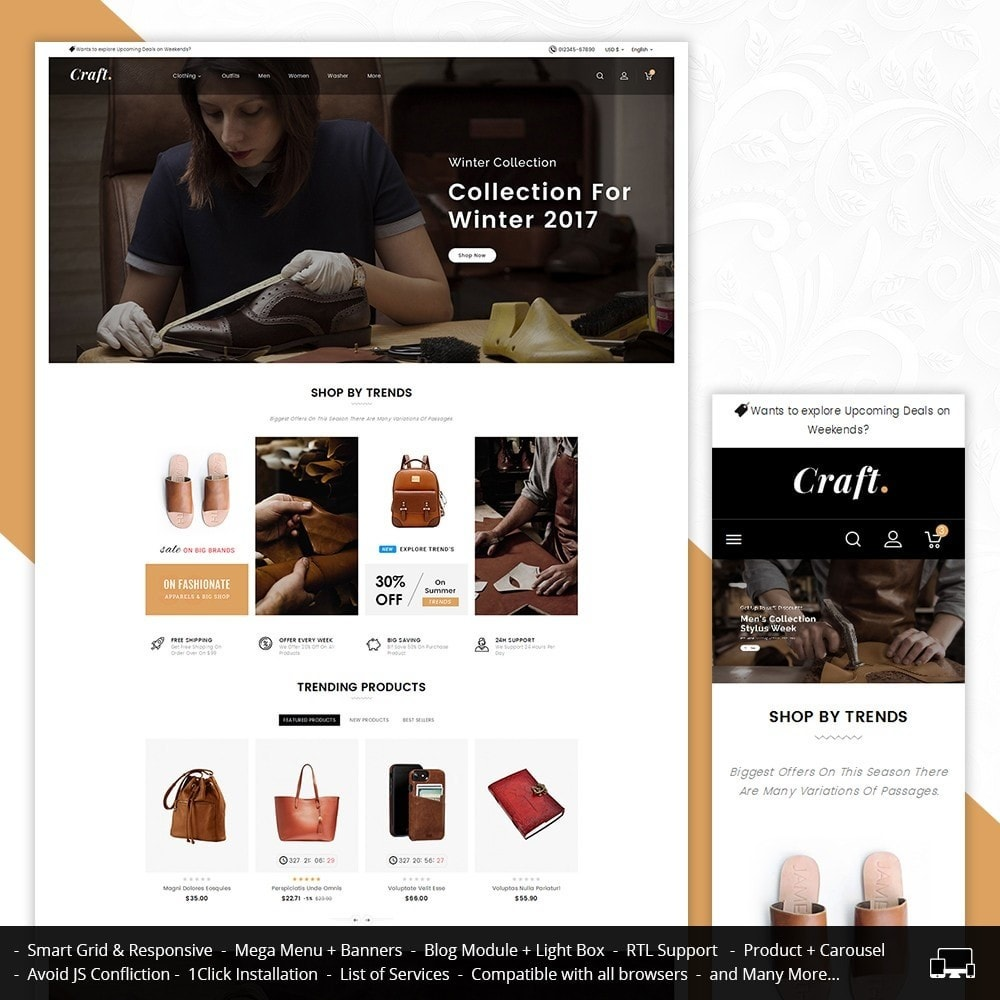 theme - Casa & Jardins - Leather Crafts - 1