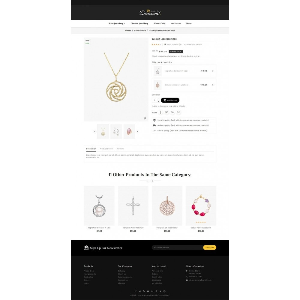 theme - Joalheria & Acessórios - Diamond Jewelry - 5