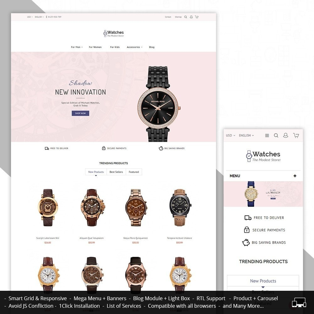 theme - Joyas y Accesorios - Watch Store - 2