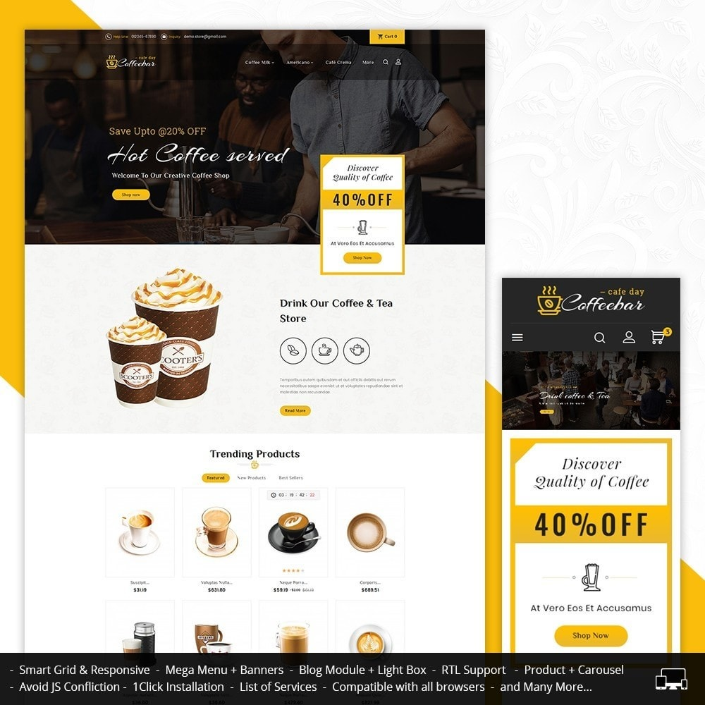 theme - Lebensmittel & Restaurants - Coffee Bar - 1
