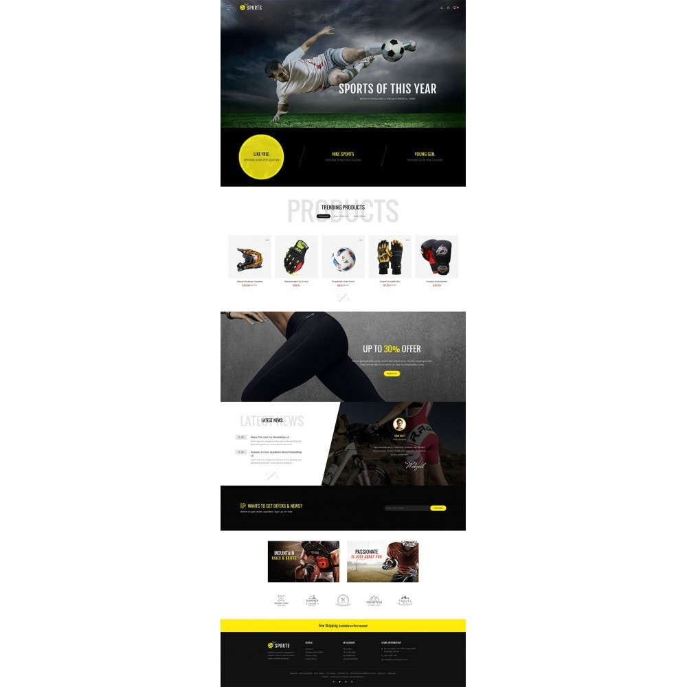 theme - Sport, Loisirs & Voyage - Sports Store - 3