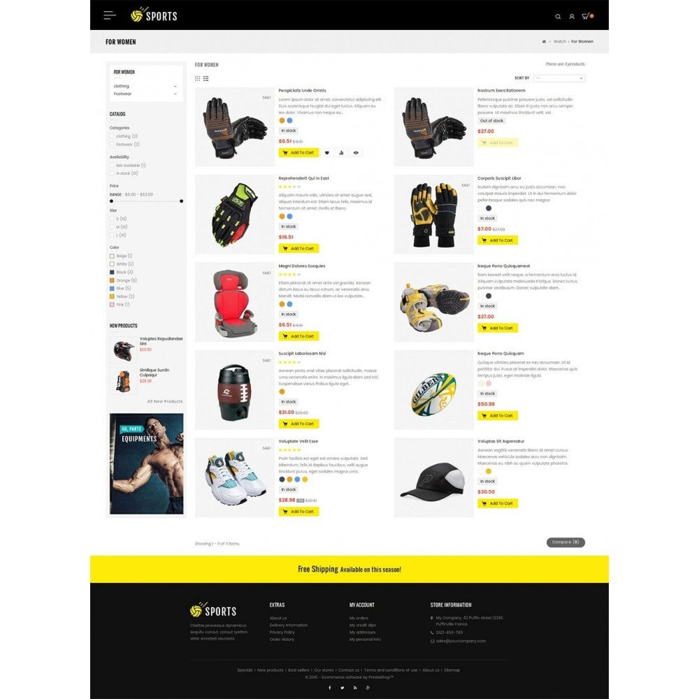 theme - Sport, Loisirs & Voyage - Sports Store - 5