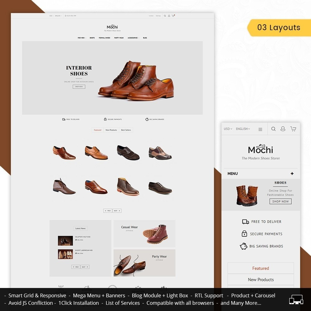 theme - Mode & Chaussures - Mochi Shoes Store - 2