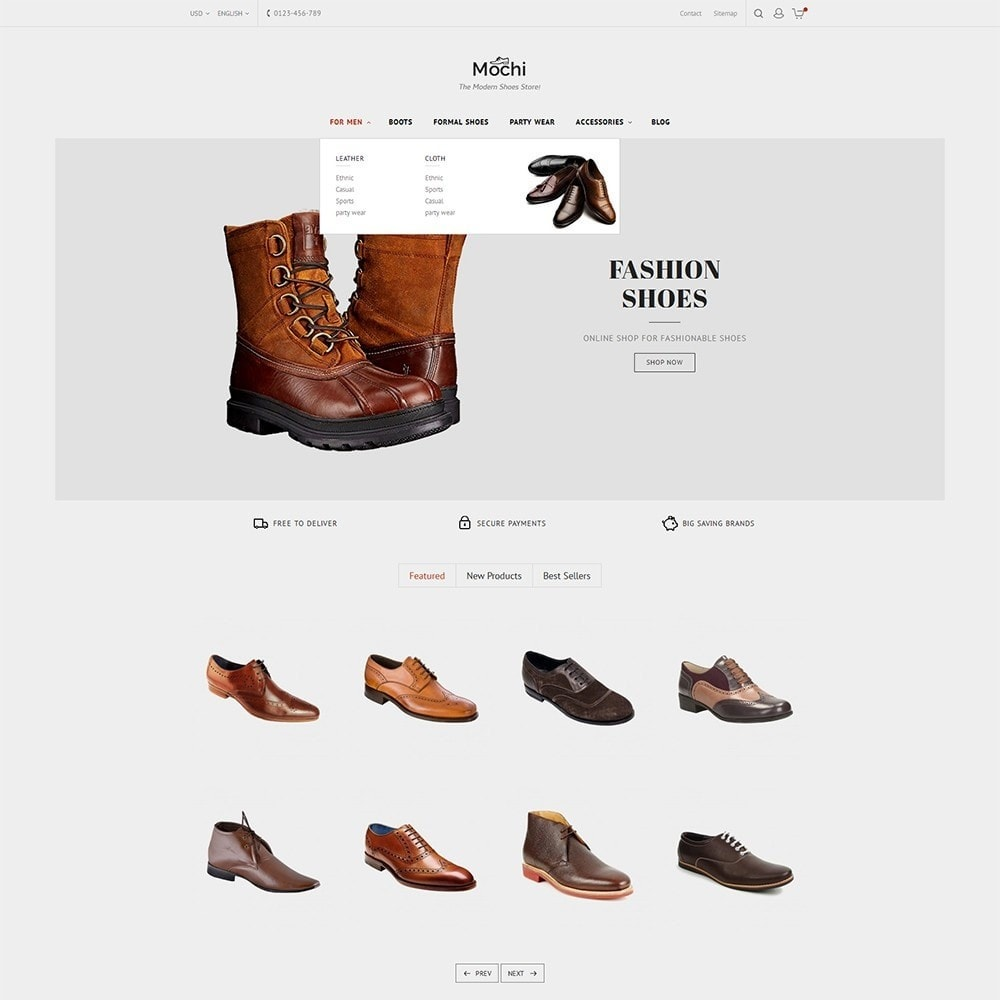 theme - Mode & Chaussures - Mochi Shoes Store - 9