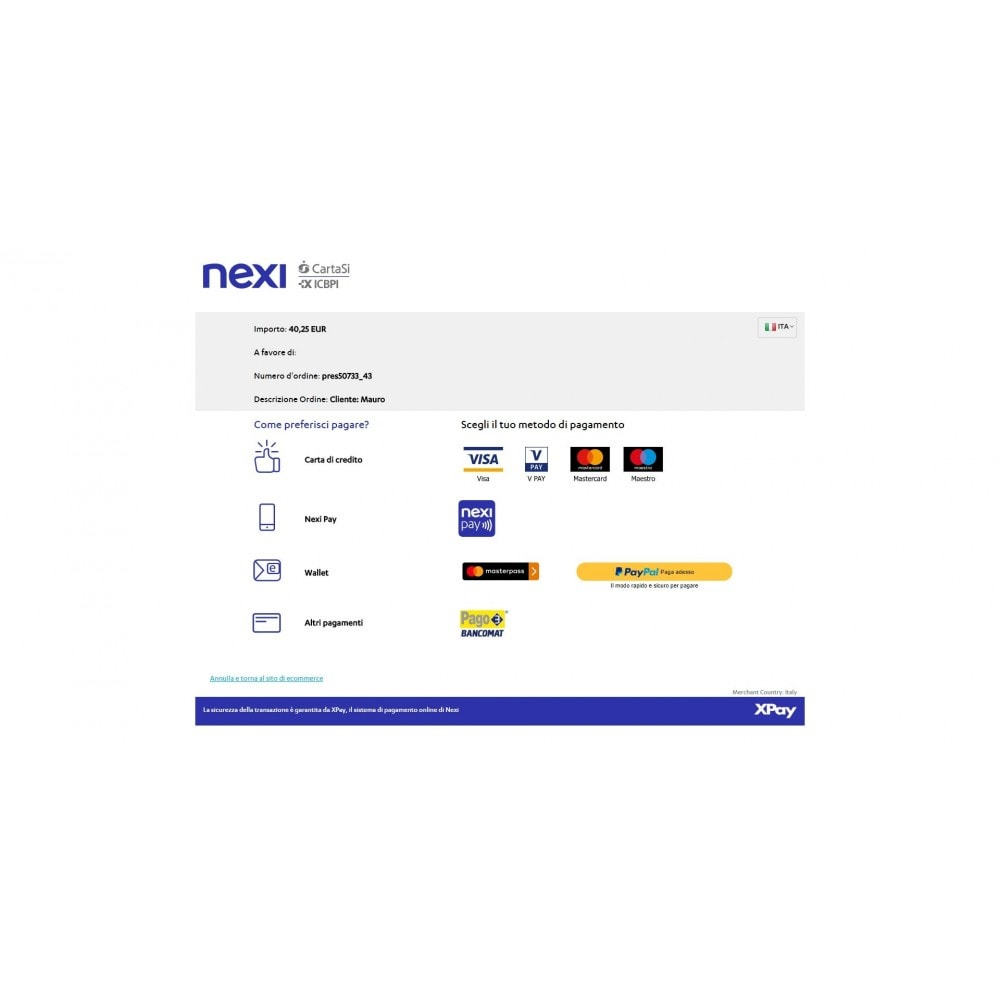 module - Creditcardbetaling of Walletbetaling - CartaSi Nexi X-Pay gateway QuiPago Keyclient Advanced - 4