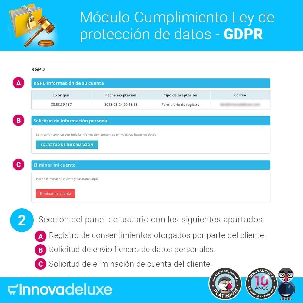 module - Marco Legal (Ley Europea) - Cumplimiento Ley de protección de datos - RGPD - 3