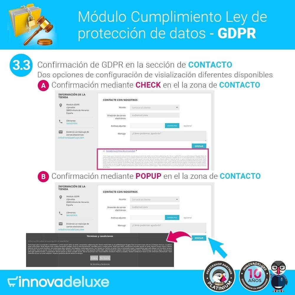 module - Marco Legal (Ley Europea) - Cumplimiento Ley de protección de datos - RGPD - 6