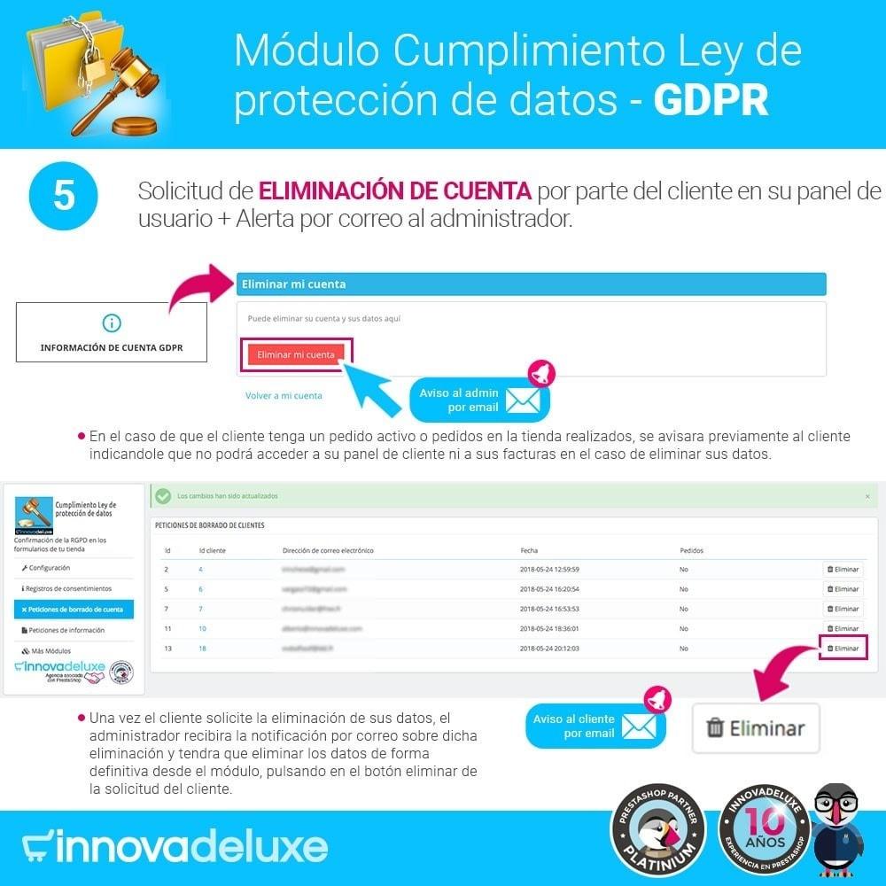module - Marco Legal (Ley Europea) - Cumplimiento Ley de protección de datos - RGPD - 10