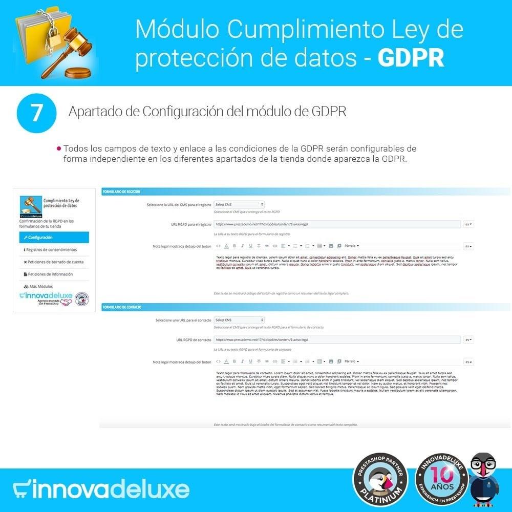 module - Marco Legal (Ley Europea) - Cumplimiento Ley de protección de datos - RGPD - 13