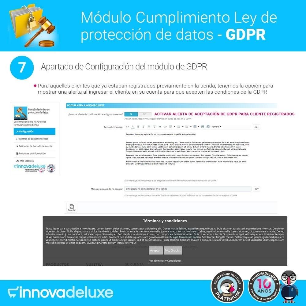 module - Marco Legal (Ley Europea) - Cumplimiento Ley de protección de datos - RGPD - 14