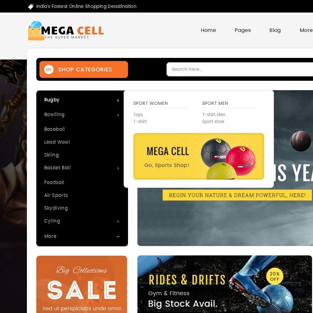 theme - Sport, Loisirs & Voyage - Mega Cell Sports Equipment - 9