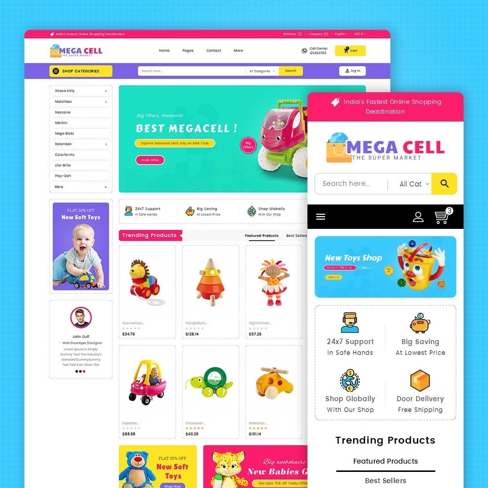 theme - Enfants & Jouets - Mega Cell Kid Toys - 2