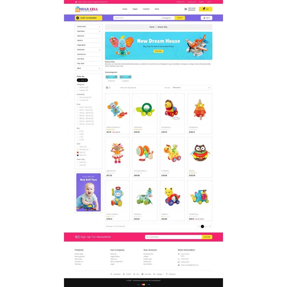 theme - Enfants & Jouets - Mega Cell Kid Toys - 4
