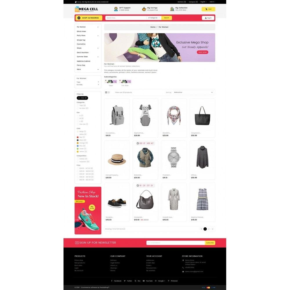 theme - Moda & Calzature - Mega Cell Fashion Market - 4