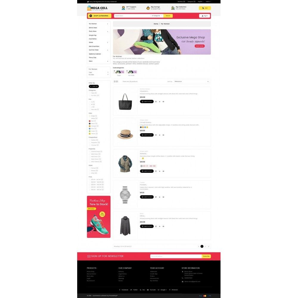 theme - Moda & Calzature - Mega Cell Fashion Market - 5