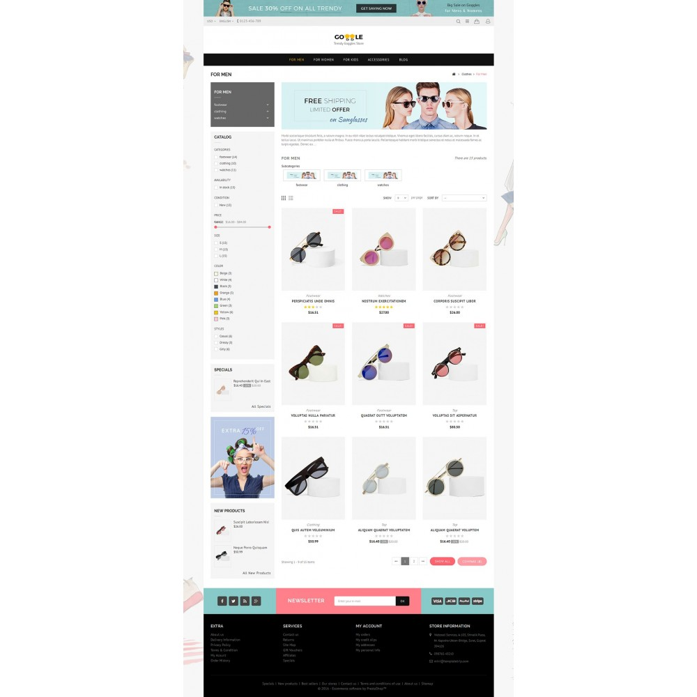 theme - Mode & Schuhe - Goggles Store - 4