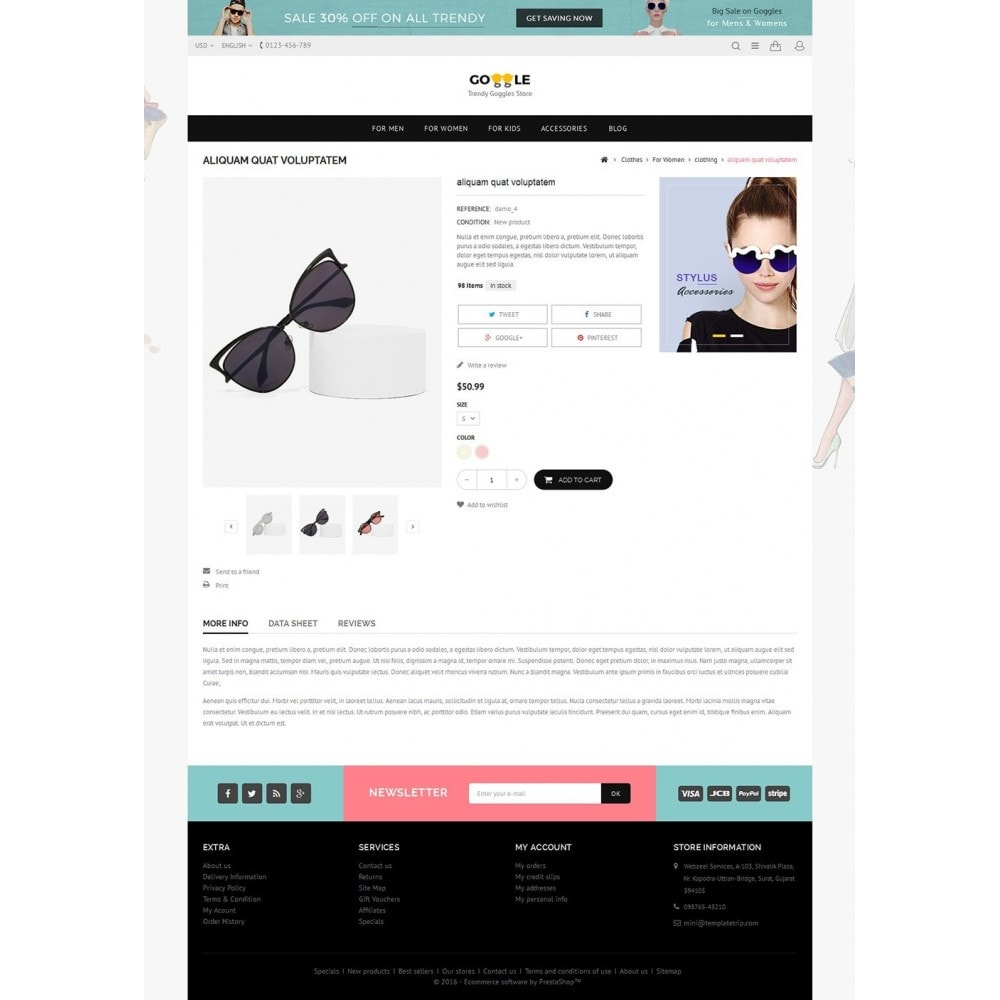theme - Mode & Schuhe - Goggles Store - 5