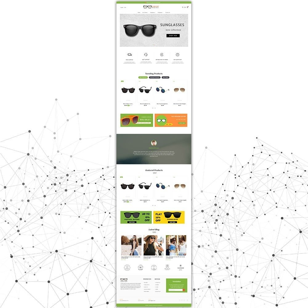 theme - Moda & Calçados - Loja de óculos de sol Comfort - 3