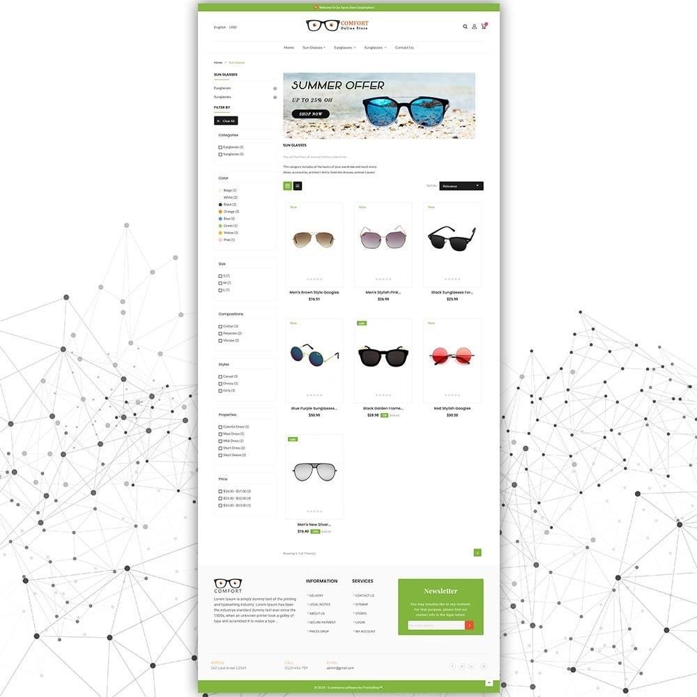 theme - Moda & Calçados - Loja de óculos de sol Comfort - 4