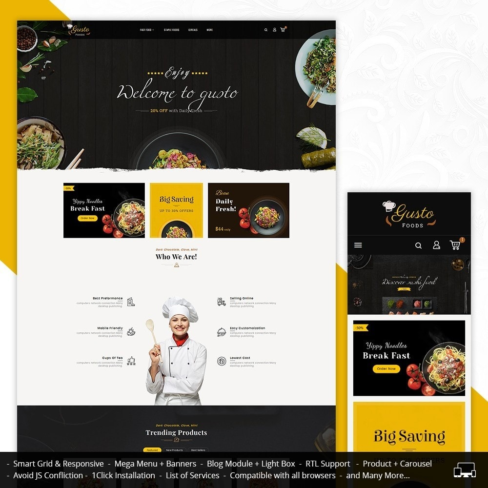 theme - Alimentation & Restauration - Gusto Food - 1