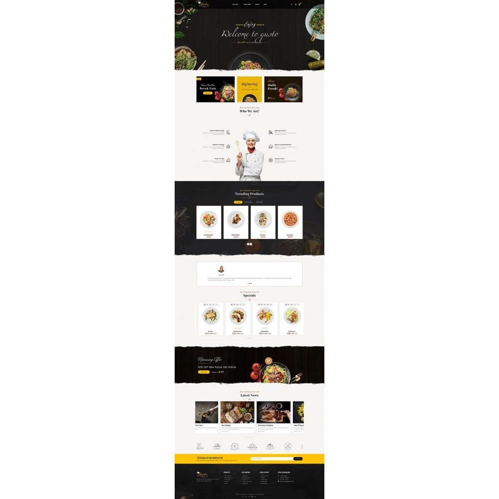 theme - Alimentation & Restauration - Gusto Food - 2