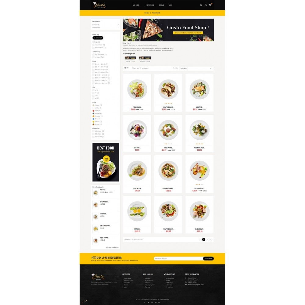 theme - Eten & Restaurant - Gusto Food - 3
