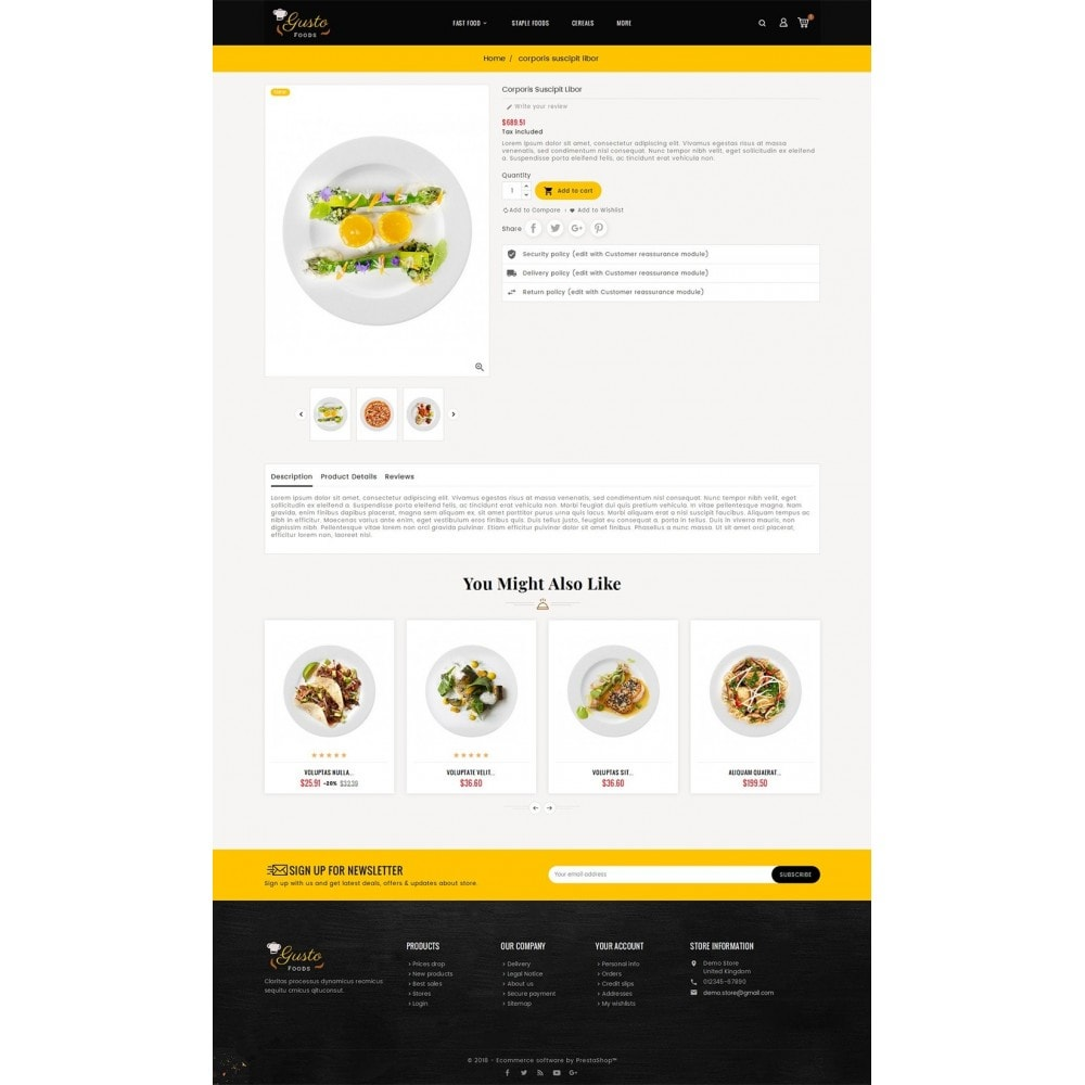 theme - Alimentation & Restauration - Gusto Food - 5
