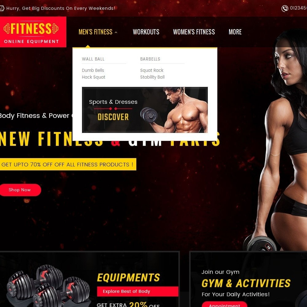 theme - Sport, Loisirs & Voyage - Gym & Fitness - 9