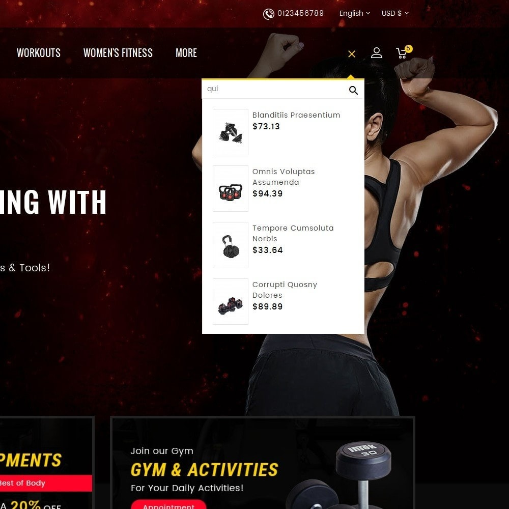 theme - Deportes, Actividades y Viajes - Gym & Fitness - 10