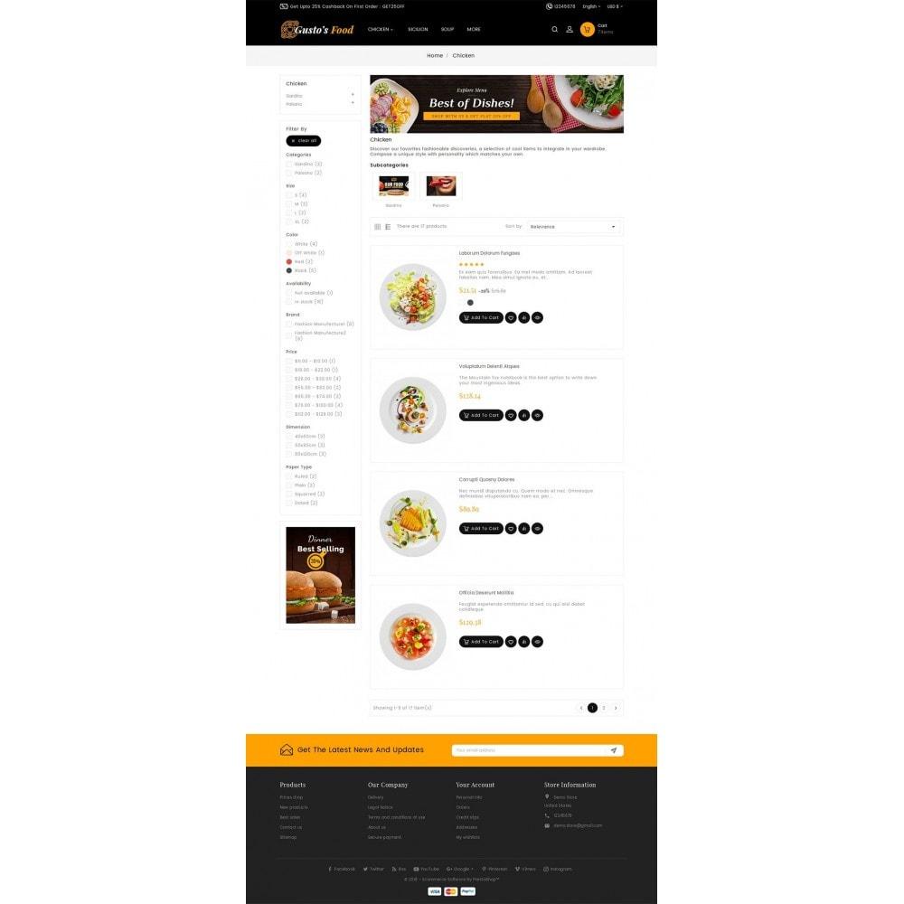 theme - Cibo & Ristorazione - Gusto Restaurant Food - 8