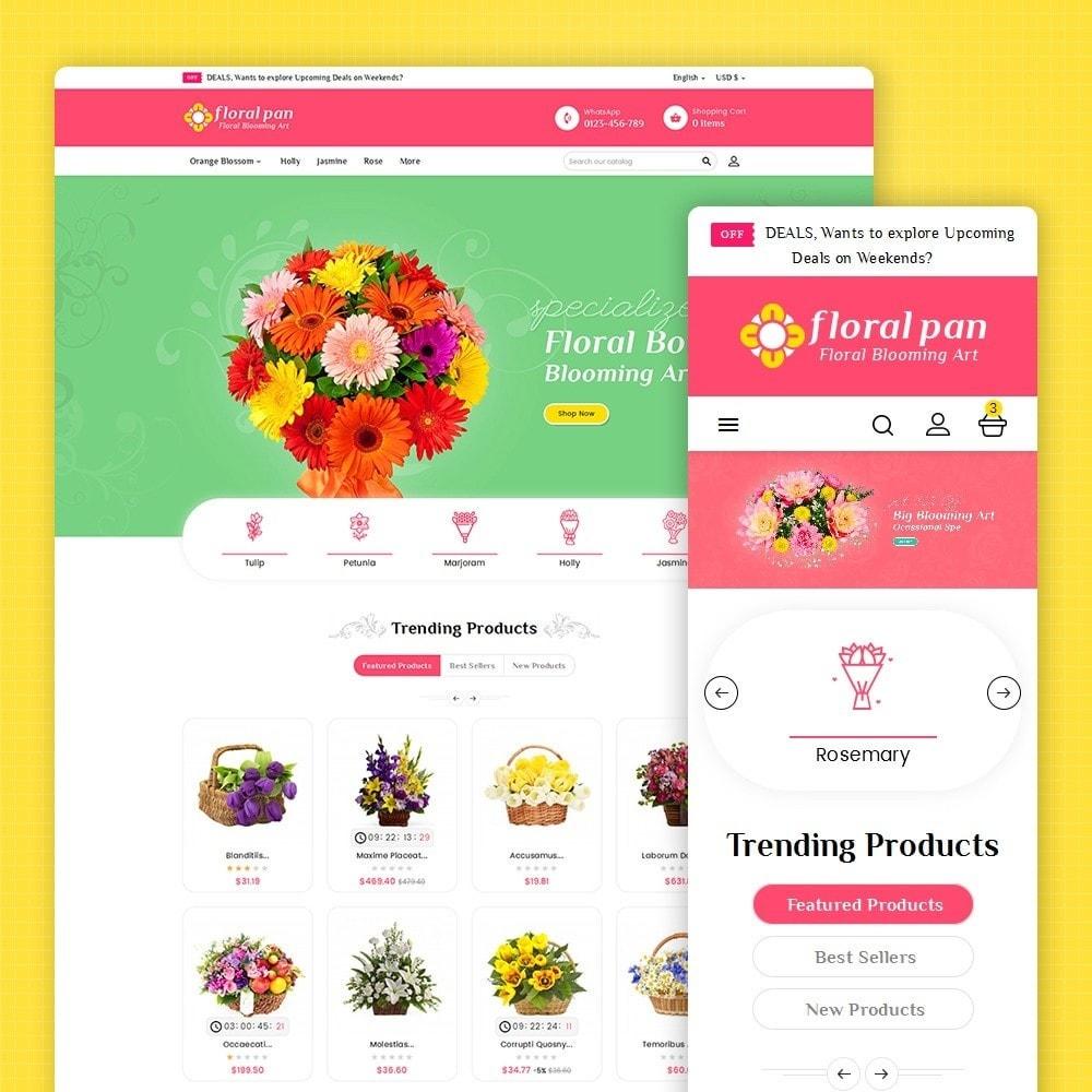 theme - Hogar y Jardín - Floral Pan Bloom Works - 2