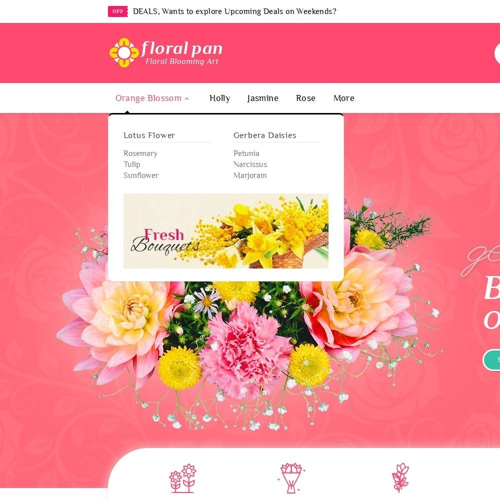 theme - Casa & Giardino - Floral Pan Bloom Works - 9