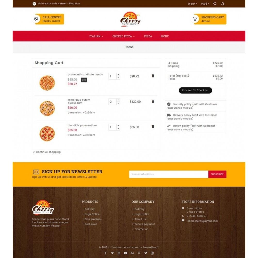 theme - Gastronomía y Restauración - Cheesy Pizza - Fast Food - 7