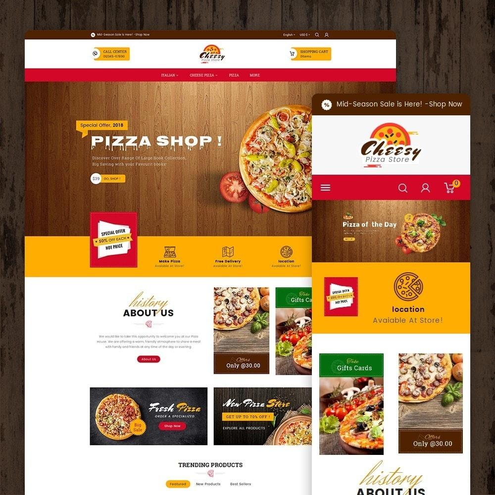 theme - Lebensmittel & Restaurants - Cheesy Pizza - Fast Food - 2