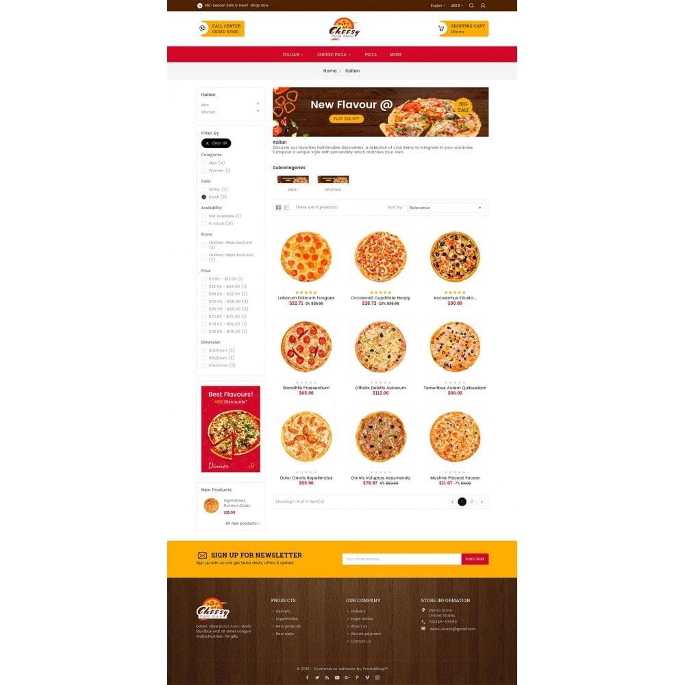 theme - Lebensmittel & Restaurants - Cheesy Pizza - Fast Food - 4