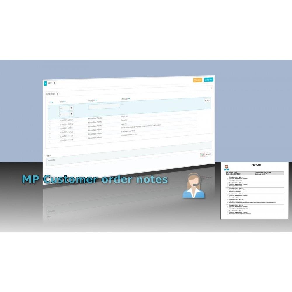 module - Order Management - MP Customer order notes - 1