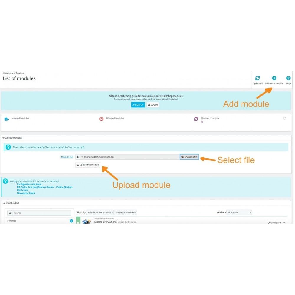 module - Importeren en Exporteren van data - Mass Attachments Upload - 1