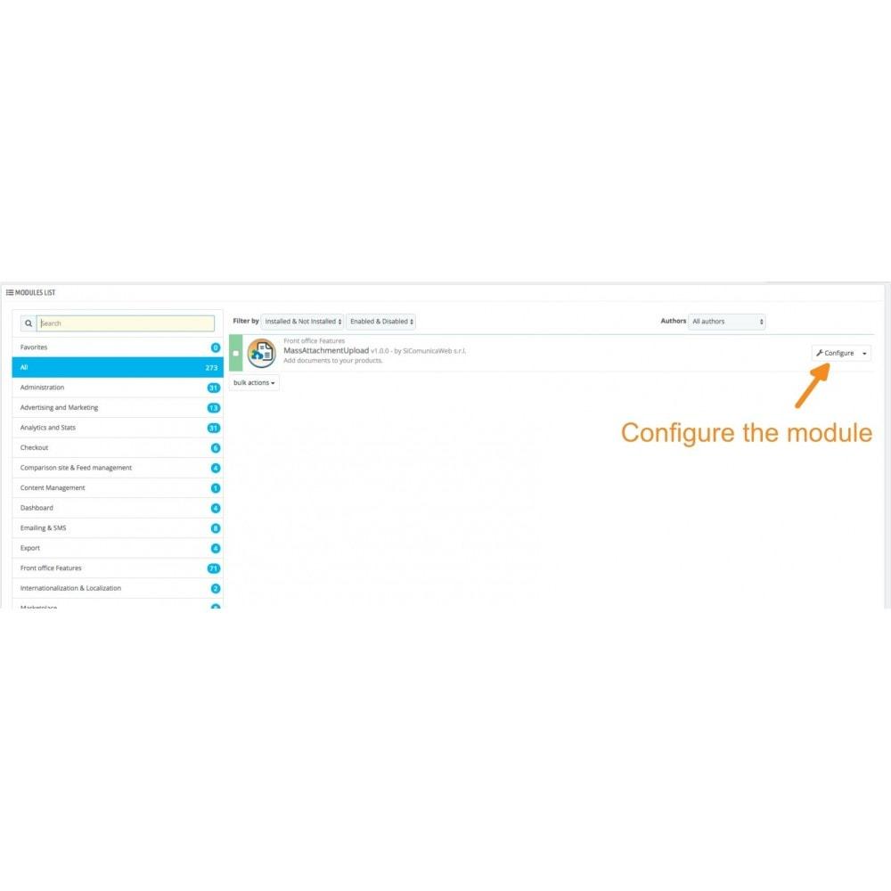 module - Importeren en Exporteren van data - Mass Attachments Upload - 3