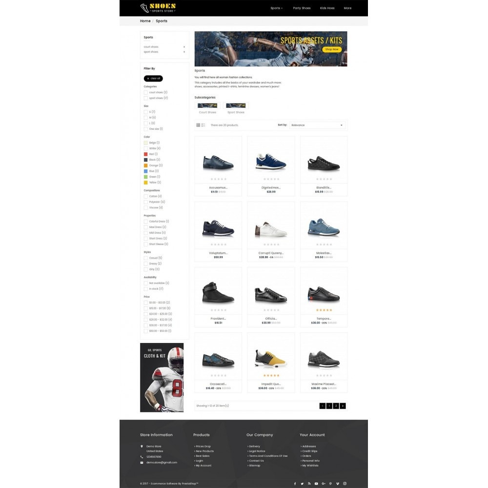 theme - Sport, Aktivitäten & Reise - Shoes Sport Store - 4