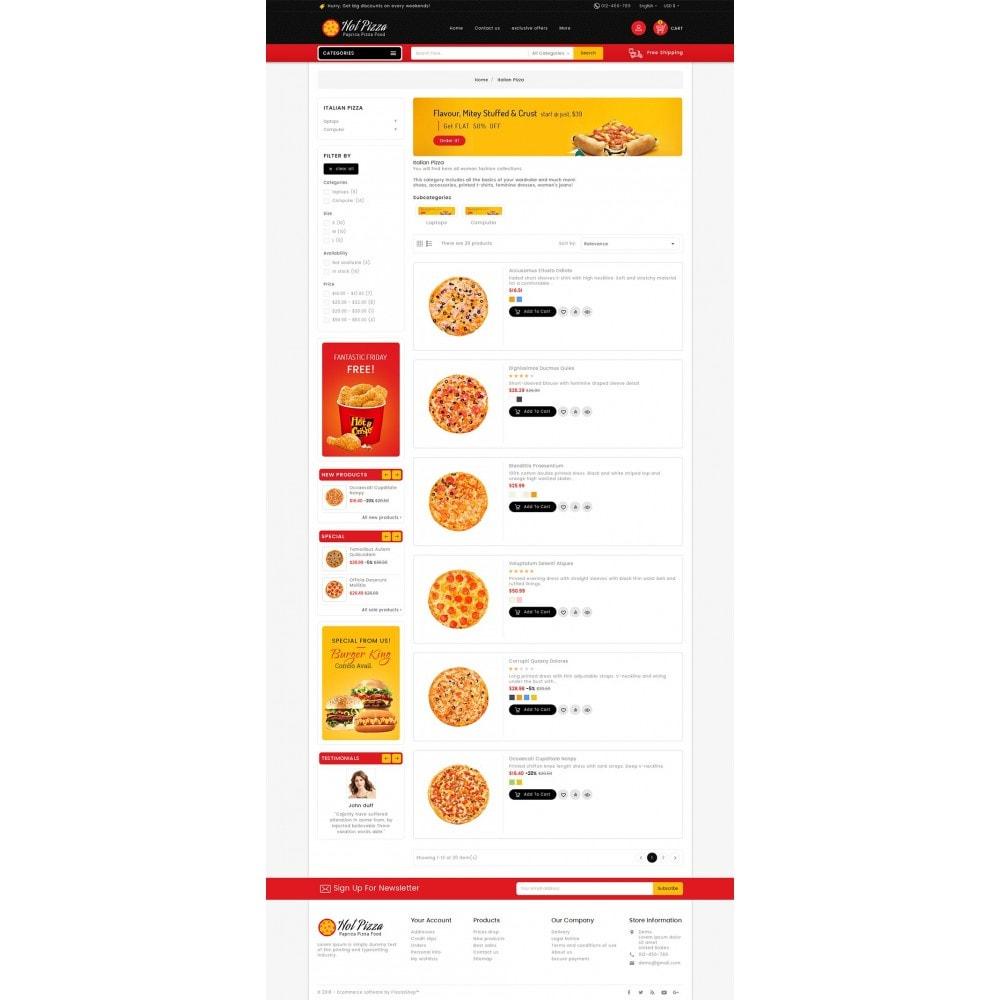 theme - Gastronomía y Restauración - Paprika Pizza - Fast Food - 5